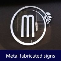 Metal fabricated signs