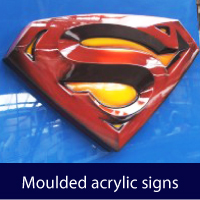 Moulded acrylic signage