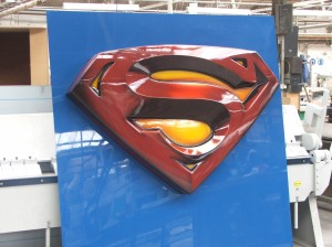 acrylic moulded superman sign
