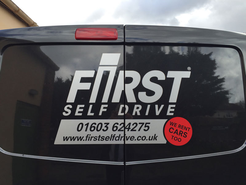 Rear door vehicle graphics pic