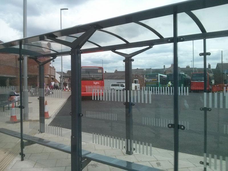 Kings Lynn new Bus Shelter