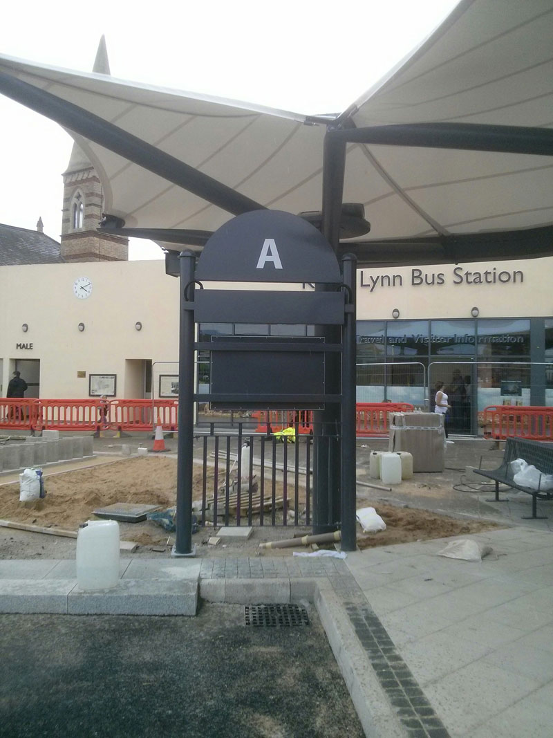 Work in progress bus stand fitting