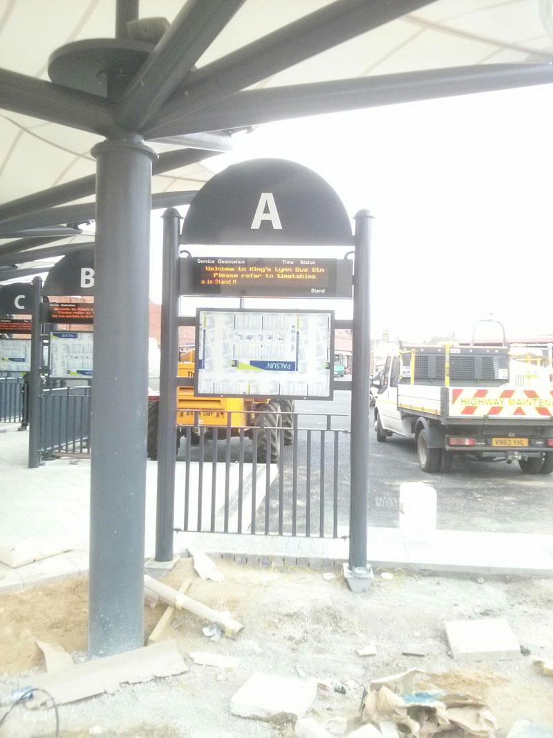 Digital Signage bus stand Norfolk