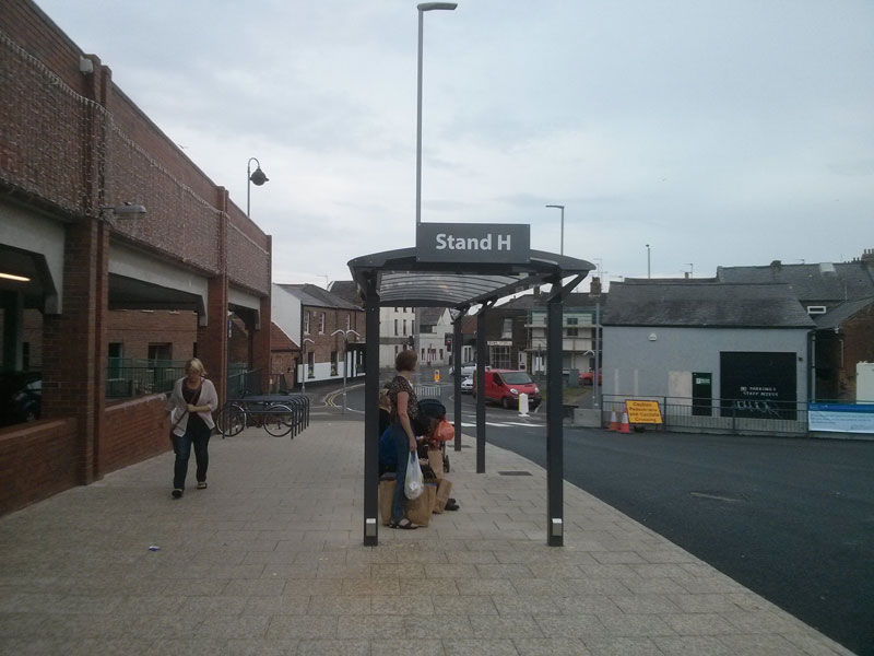 Bus station stand