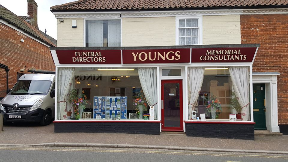 New signage for Youngs Funeral Directors